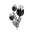 minimalist tattoo flowers leaves delicate herb vector image vector image