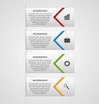 Modern infographic options banner Design elements vector image vector image