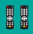 modern remote control with arrow button and vector image vector image