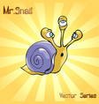 mr snail with contradiction vector image vector image