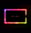 neon frame background colorful fashion neon sign vector image