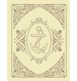 Old card Organized by layers vector image vector image