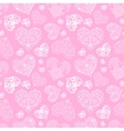 Openwork seamless pattern of hearts vector image vector image