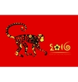 Oriental horoscope Year of the Monkey vector image vector image