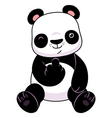 Panda make a middle finger symbol vector image vector image
