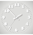 paper origami clock vector image vector image