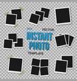 photo frame mockup set vector image vector image