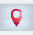 realistic gps pointer red point icon vector image