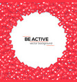 red icons social media network activity vector image