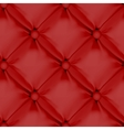 Red Seamless Leather Upholstery Pattern vector image vector image