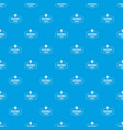 research center pattern seamless blue vector image vector image