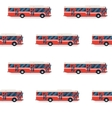 seamless pattern of red buses vector image