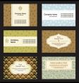 set business card vector image vector image