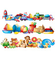 Set of different types of toys vector image