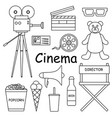 set of for the film industry vector image