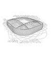 sketch of the new stadium in moscow vector image
