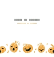 Smiling Halloween pumpkins horizontal border vector image vector image