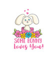 some bunny loves you vector image