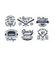 sport premium club logo design set vintage vector image vector image