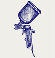 Spray gun vector image vector image