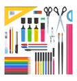 Stationery objects set vector image