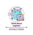 think about logistics concept icon