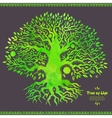 Unique watercolor ethnic tree of life vector image vector image