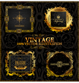 vector vintage gold frames calligraphic vector image vector image