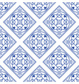 portuguese blue and white mediterranean seamless vector image