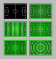 soccer field pattern element graphic vector image