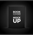 3d realistic book cover isolated on black