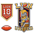 American Football Lion Gladiator Mascot vector image vector image