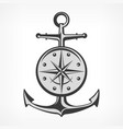 anchor with compass vector image vector image
