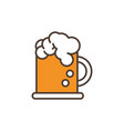 beer mug oktoberfest icon line filled vector image