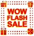 Big winter sale poster with WOW FLASH SALE text vector image