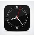Black clock icon vector image vector image