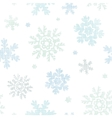 blue christmas snowflakes textile texture seamless vector image vector image