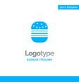 burger fast food fast food blue business logo vector image vector image