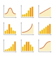Charts Diagrams and Graphs Flat Icons Set vector image vector image