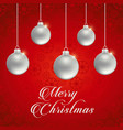chrismtas card with pattern background vector image vector image