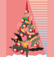 christmas tree eps10 vector image vector image