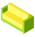 colorful couch or sofa isometric furniture vector image vector image