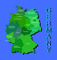 colorful germany political map with regions on vector image