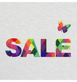 Colorful Sale Text With Bokeh vector image vector image