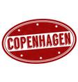 copenhagen grunge rubber stamp vector image vector image