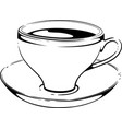 cup of coffee sketch vector image vector image
