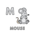 cute cartoon animals alphabet mouse vector image vector image