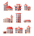 cute toys in nice colors at home beautiful houses vector image