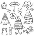 doodle of wedding element hand draw vector image vector image
