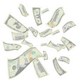 flying us dollars falling us cartoon bills vector image vector image
